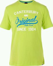 CANTERBURY ORIGINAL RUGBY TEE LIME PUNCH GREEN LARGE BNWT