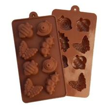 Insect Snail Butterfly Worm Bee Silicone Soap mold Candy Chocolate Fondant mould