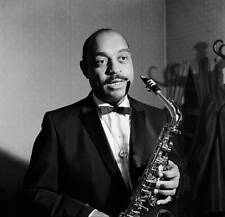 OLD MUSIC JAZZ PHOTO Jazz Musician Benny Carter On The Saxophone Circa 1960