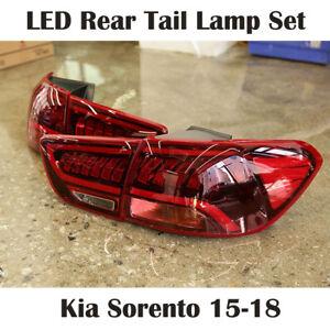 New OEM LED Rear Tail Lamp Light LH RH 4pcs Set for Kia Sorento 16-18