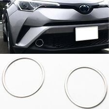 SUS304 Stainless Steel Front Fog Lamp Cover Trim For Toyota CHR C-HR 2017