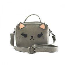 Loungefly Grey Cat Crossbody Crossbody Duffle Bag Purse NEW! FREE USA SHIPPING!