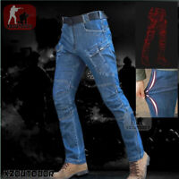 Military Tactical Mens Cargo Pants Jeans Combat Army City Casual Trousers Hiking