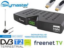 Freenet Skymaster DTR5000 DVB-T2 Irdeto Receiver Set mit GRATIS Antenne SCART