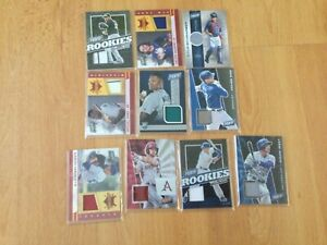 LOT OF 10 MAJOR LEAGUE BASEBALL GAME USED CARDS