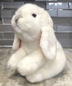 "2012 Toys R Us Animal Alley White Bunny Rabbit Gray Nose 10"" Stuffed Plush Toy"
