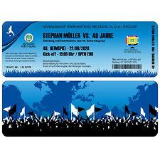 Fussball Ticket Einladungskarten zum Geburtstag als Eintrittskarte - 2 x Abriss