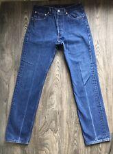 LEVIS 501 Denim Jeans Vtg Button Fly Indigo High Waist 33x38 (30x34 actual) EUC!