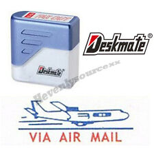 { VIA AIR MAIL } Deskmate Pre-Inked Self-Inking Rubber Stamp #KE-A01A