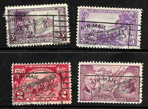 """""""Biplane Airmail"""" Fancy Cancel SON 2 & 3 Cent Commemorative US 72D62"""
