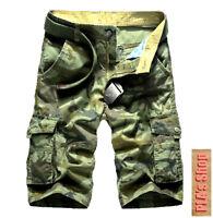 New 2018 Cargo Shorts Men Top Design Camouflage Military Army Khaki Shorts