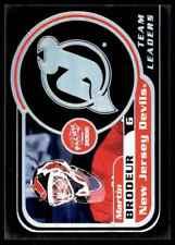 1999-00 Pacific Team Leaders Martin Brodeur #16