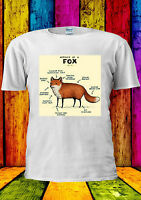 Anatomy Of A Fox Funny Tumblr T-shirt Vest Tank Top Men Women Unisex 2375