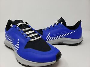 Nike Air Zoom Pegasus 36 Shield Mens Size 12 Blue White Reflective Running Shoes