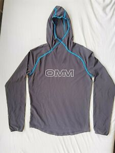 OMM Breeze Hood Long Sleeve Mens Running Hoody Hoodie Black Small Ultralight Sun