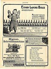 Erven Lucas Bols Liqueur-Fabrik Amsterdam Art nouveau Reklame datiert 1906