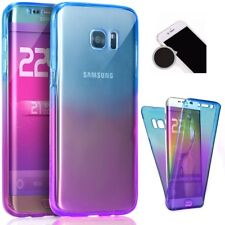 360 degree Front and Back Full Body Gradient Gel Case Cover Samsung Galaxy S8+