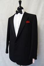 Men's St Michael Black Tuxedo Dinner Suit 46L W40 L33 CC9722