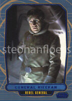 2012 Topps Star Wars Galactic Files Blue Parallel #144 General Rieekan 172/350