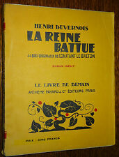 Le Livre de Demain H. DUVERNOIS La Reine battue Bois gravés C Le BRETON Woodcuts