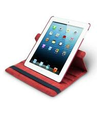 Rotating case of PU-leather for iPad 2/3/4 red