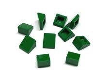 4546705 Lego Dachstein 1x1x2/3 Grün 10 Stück