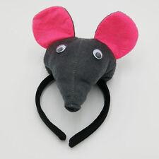 3D Rat Mouse Ears Animal Zoo Farm Headband Hair Alice Band Fancy Dress Costume