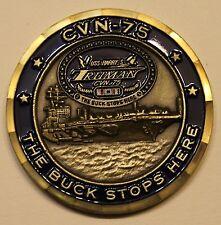 USS Truman CVN-75 Aircraft Carrier Navy Challenge Coin           MSv2