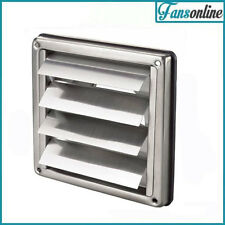 Square Stainless Steel Gravity Vent - External Vent - Size Options