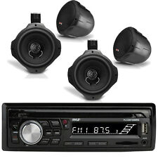 "Pyle Bluetooth Marine Radio MP3/USB/SD CD AM/FM, 4x 6.5"" Wakeboard 200W Speakers"