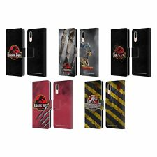 OFFICIAL JURASSIC PARK LOGO LEATHER BOOK WALLET CASE COVER FOR HUAWEI PHONES