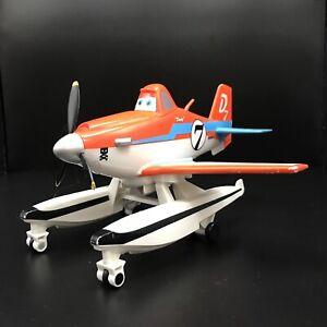 """Disney Planes DUSTY Fire Rescue Pontoons Sea Plane 8"""" Action Figure Sounds 2013"""