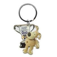 Boofle Worlds Best Ever Dad Metallic Keyring Lovely Gift Idea Christmas Birthday