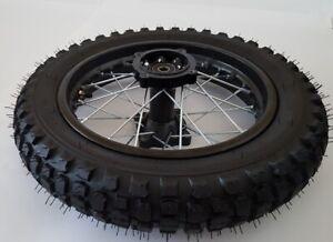 """Komplettrad 12"""" hinten Dirt Bike Achse ø12mm - Reifen Felge Dirtbike Crossbike"""
