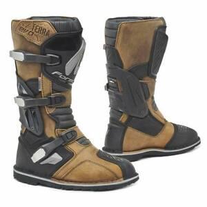motorcycle boots | Forma Terra Evo Dry (X-Series) brown adventure dual sport adv