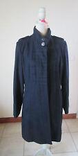 Beau manteau en laine TRÈS TENDANCE LA MODE EST A VOUS   neuf  T 42
