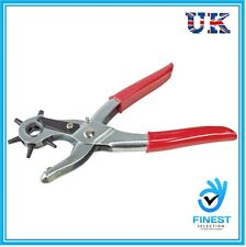 Revolving Leather Hole Punch Plier Puncher Leather Belt Cut Eyelet 6 Sizes UK