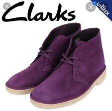 Clarks Desert Boots Size 10.5 Deep Purple Suede Leather Gum Bottom Vietnam