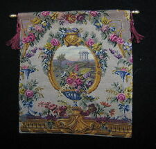 Miniature dollhouse tapestry with antique petit point - needlepoint