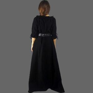 Kurzärmeliges Freizeit Kleid - Mittelalterkleid - Kurzarm - 5 Farben - 7 Größen