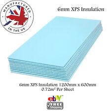 XPS Thermal  INSULATION BOARDS Floor Underlay & Underfloor Tile Heating 6mm