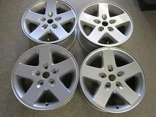 "2007-2014 Jeep Wrangler 17"" Aluminum Alloy Wheel Rim Set of 4  Hollander #9074"