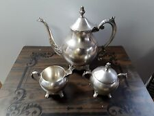 Vintage F B Rogers Silver Co. 1883 Silverplate 3pc Coffee Service Set