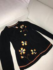 Authentic kids girls black halloween sweater size 4