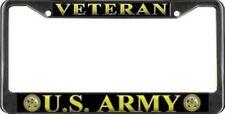 U.S. Army Veteran Black License Plate Frame