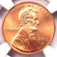 2008-D SMS Lincoln Memorial Cent 1C Penny - NGC MS69 RD - Rare in MS69 Red!