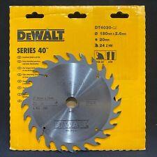 Dewalt DT4030 Series 40 180mm x 20mm 24T TCT Circular Saw Blade for Wood & PVC