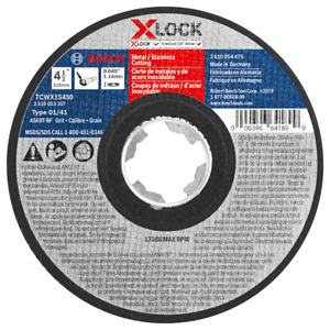 "Bosch GWX27LM450 4-1/2 In. x 1/4"" X-LOCK Grinding Wheel (25 PACK) - NEW"