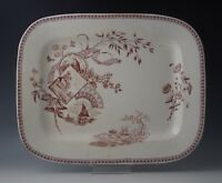 AESTHETIC NEW WHARF POTTERY TENNYSON LARGE PLATTER c.1884