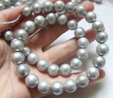 8PE02301 11-12mm Grey Round Freshwater Pearls